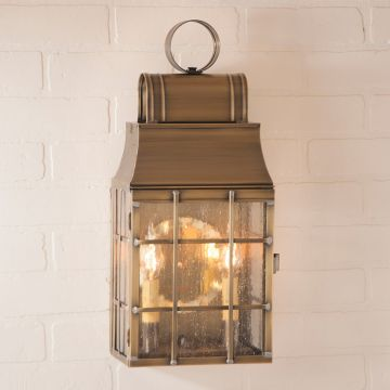Washington Wall Outdoor Light in  Brass - 3 Light - renaissance Lighting