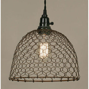 Chicken Wire Dome Pendant Light - renaissance Lighting