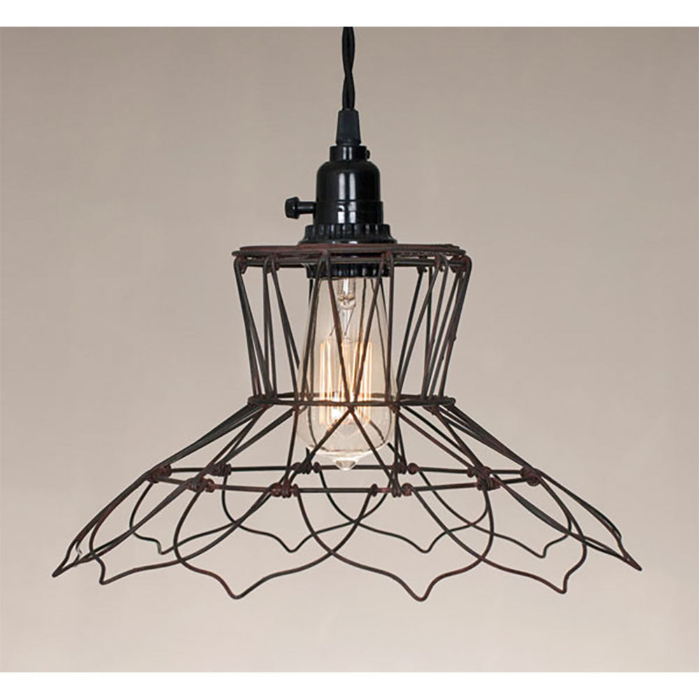 Vintage Wire Pendant Lamp - renaissance Lighting