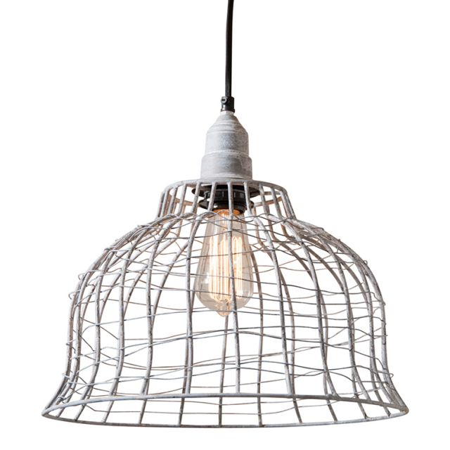 SKU: K14-47WZ Industrial Cage Pendant in Weathered Zinc ET - renaissance Lighting