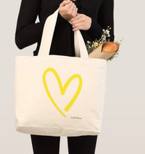 Load image into Gallery viewer, Stoll & Heart Signature Heart Tote - Yellow