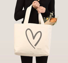 Load image into Gallery viewer, Stoll & Heart Signature Heart Tote - Grey