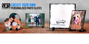 Link to various shapes and sizes of our Personalised Photo slates
