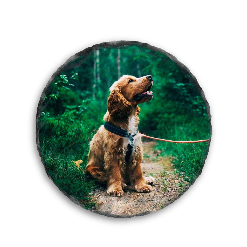Personalised Photo Slates - Coaster - Circle