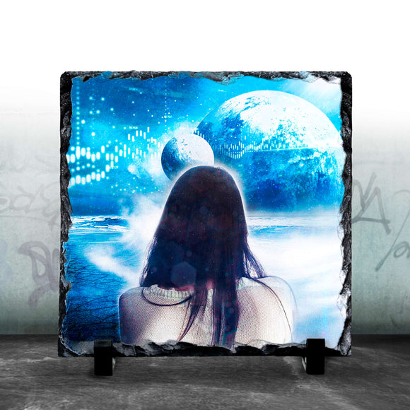 Watching The Waves - Custom Photo Slate SOUTH WEST SLATES
