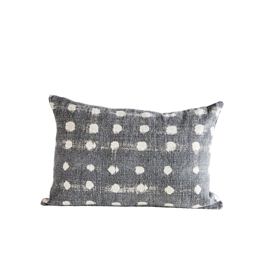 Charcoal Dot Pillow