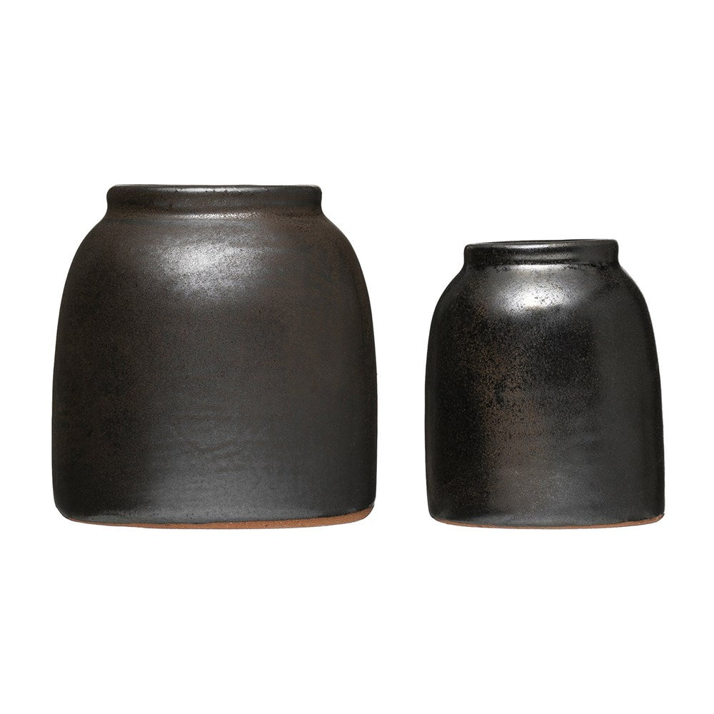 Bronze Glaze Vase, Set of 2