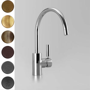 Astra Walker Icon + Lever Gooseneck Kitchen Mixer
