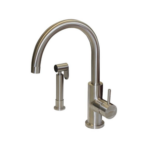 Tube Kitchen Mixer With Rinse Spray