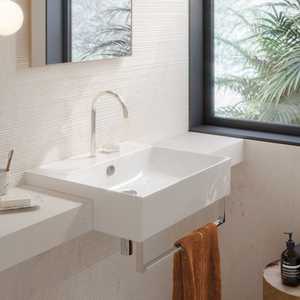 Zero 55 Semi Recessed Basin - Gloss White