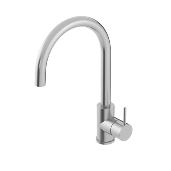 Oli Kitchen Mixer Round Spout - 316 Stainless Steel