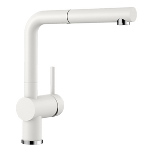 Blanco Linus S Kitchen Mixer with Pull Out Function - White