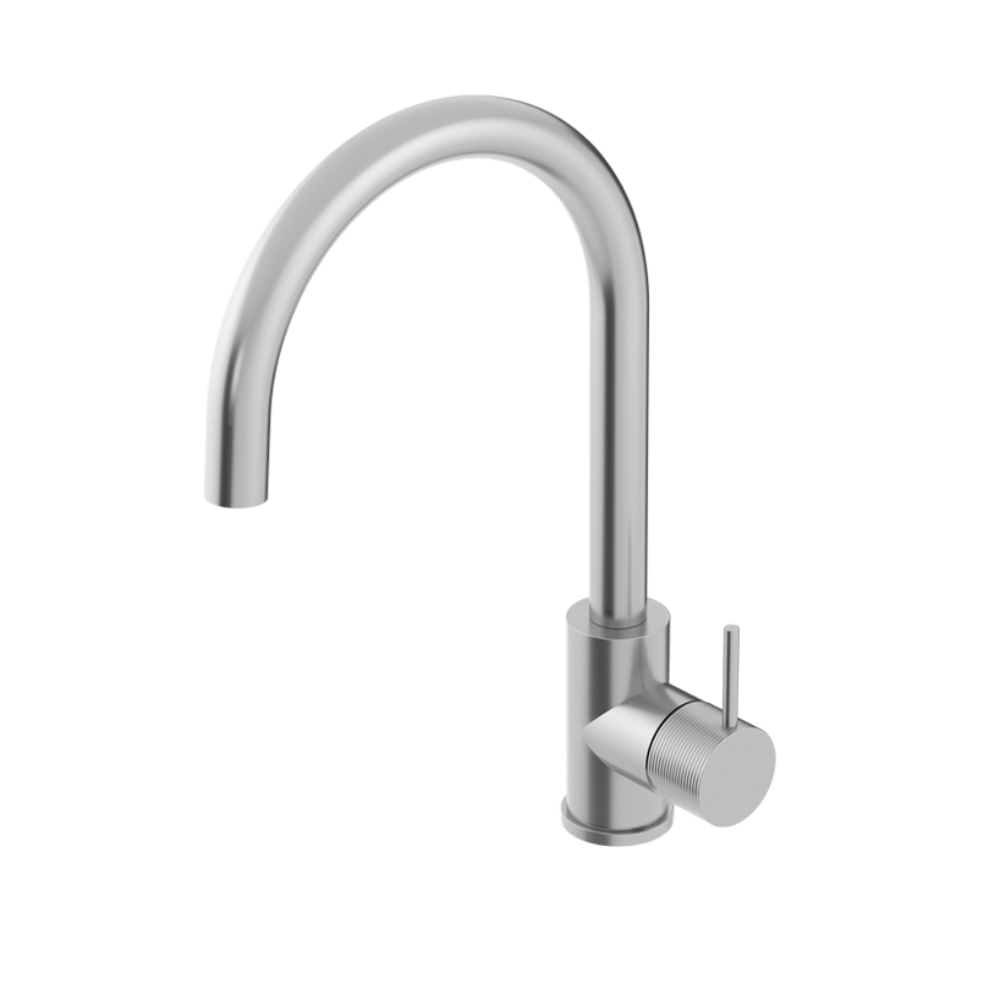 Oli Kitchen Mixer Round Spout with Linear Handle - 316 Stainless Steel