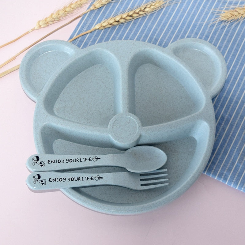 Baby Feeding 3Pcs Tableware Set