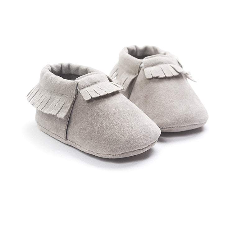 Suede Leather Newborn Baby Moccasins Shoes