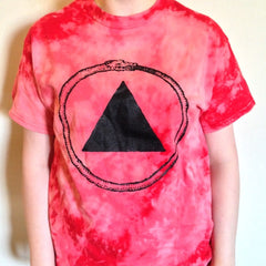 Purple or Red Bleach-Dyed Logo T-Shirt