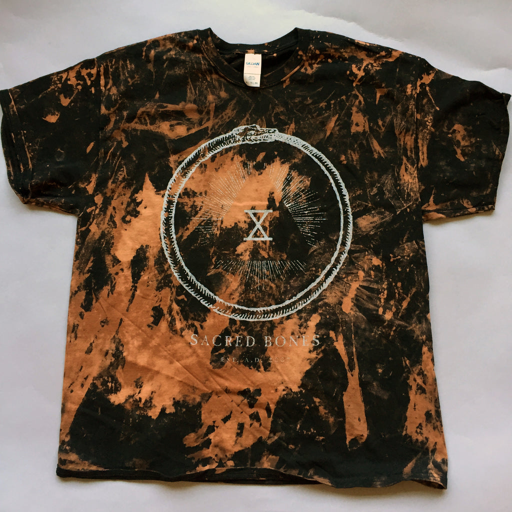 Bleach dyed sacred bones x t shirt sacred bones records for How to bleach dye a shirt