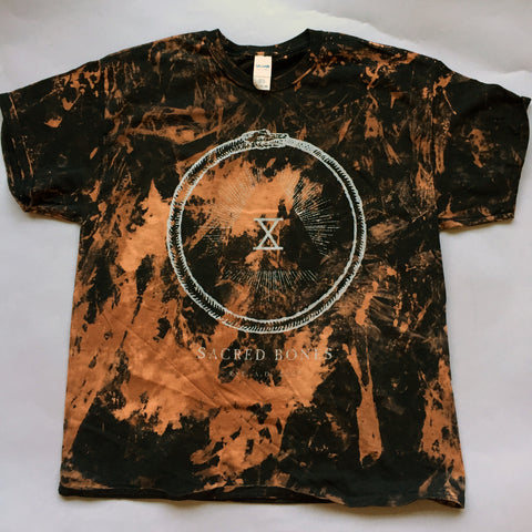 "Bleach-Dyed ""Sacred Bones X"" T-Shirt"