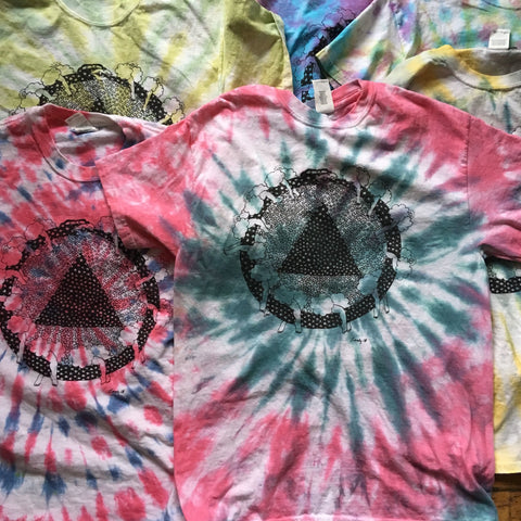 Tie-Dyed Dracula's Flute T-Shirt
