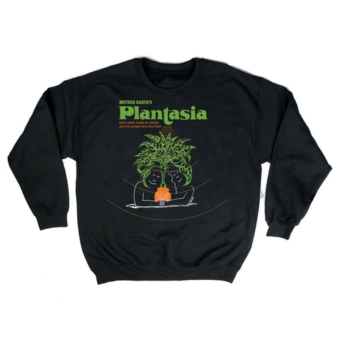 Black Plantasia Cover Art Crew Neck Sweatshirt