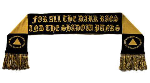 """All the Dark Rags"" Knit Scarf"
