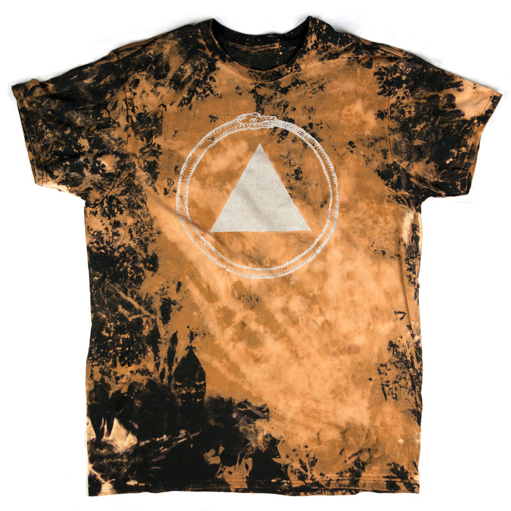 Bleach dyed sacred bones logo t shirt sacred bones records for How to bleach dye a shirt