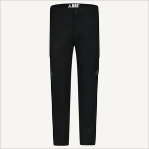 Product shot of BAD 925 Work Pants in Black. Front view.