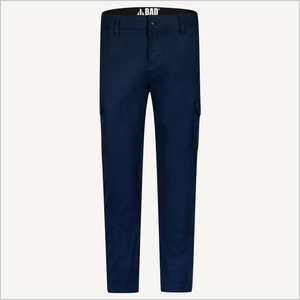 Product photo of BAD 925 Work Pants in Navy. Front view.