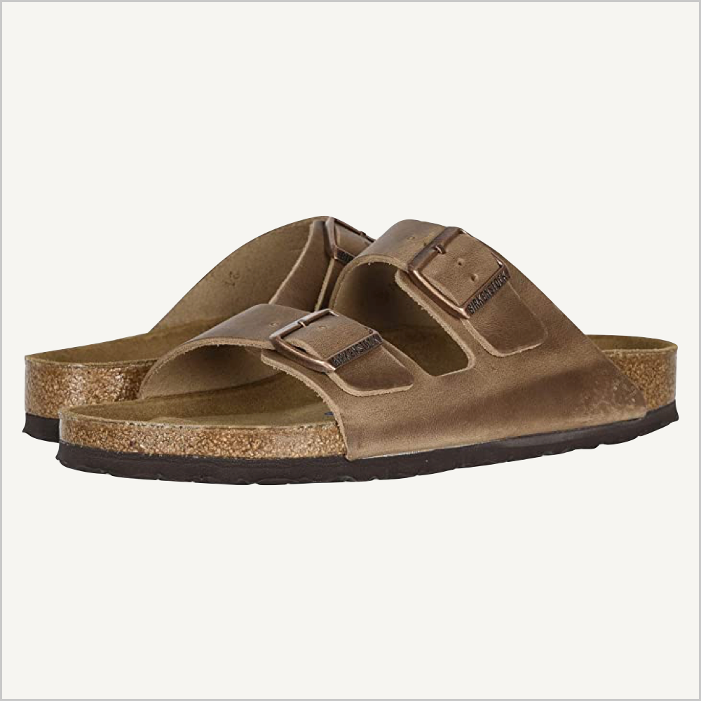 Birkenstock Arizona Oiled Leather Soft Footbed Sandal