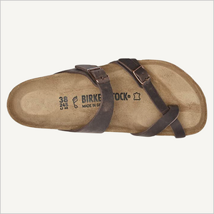 Top view of Birkenstock Mayari Sandal in habana oiled leather