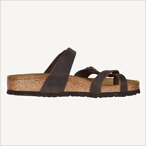 Side view of Birkenstock Mayari Sandal in habana oiled leather