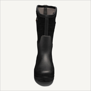 Front view of Bogs Neo-Classic Tall Melange Boot in black multi.