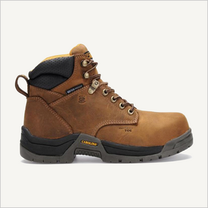 Side view of Carolina Raleigh 6 inch Composite Toe Waterproof boot in Brown.