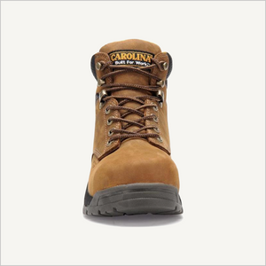 Front view of Carolina Raleigh 6 inch Composite Toe Waterproof boot in Brown.