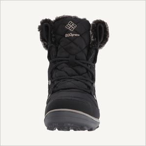 Front view of Columbia Women's Heavenly Shorty Omni-Heat Waterproof Boot in black