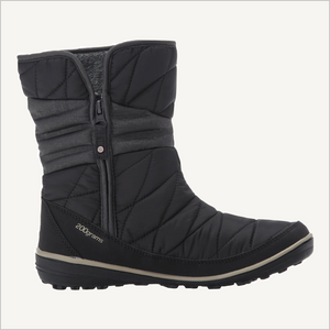 Side view of Columbia Women's Heavenly Slip 2 Omni-Heat Waterproof Boot in black