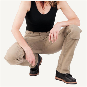 Dovetail Britt Utility Pant in Natural Stretch Canvas