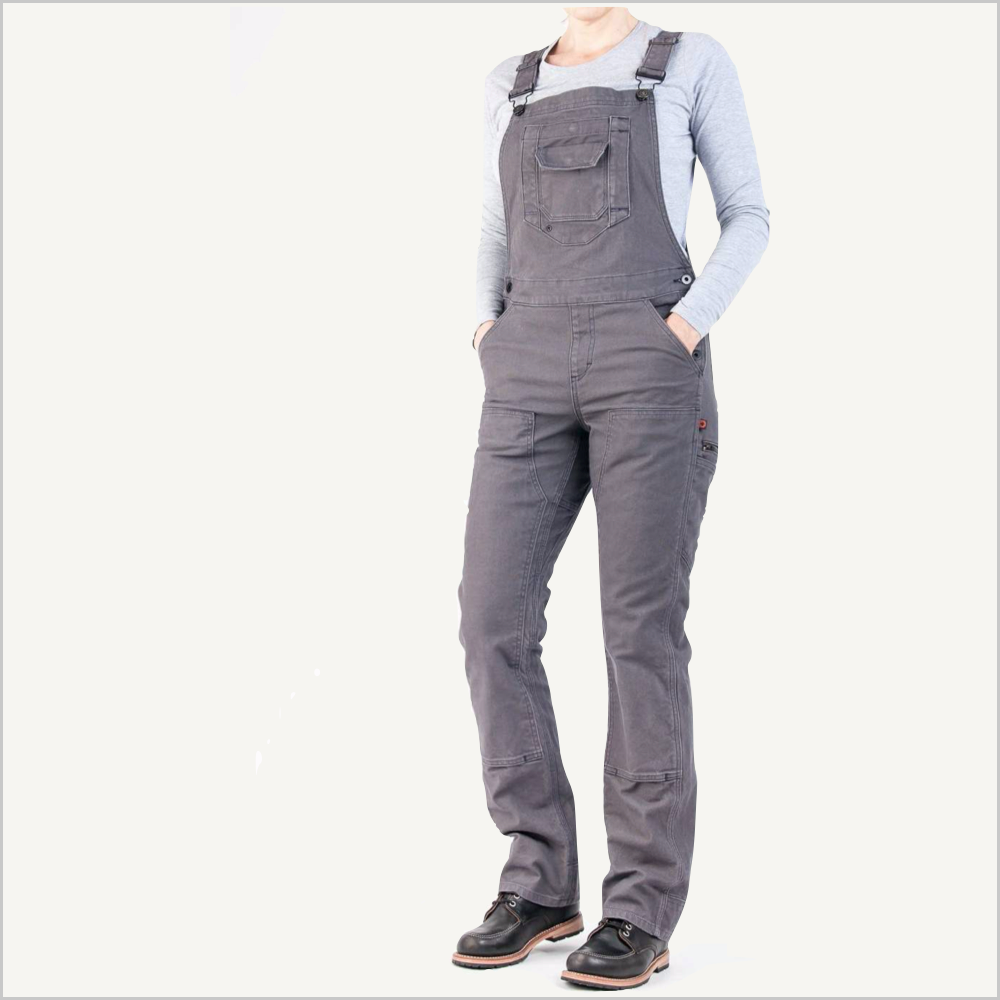 Dovetail Freshley Overall in Grey Stretch Canvas