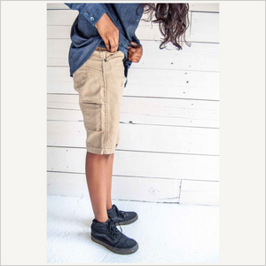 Dovetail Maven Slim Work Short in Flax Canvas