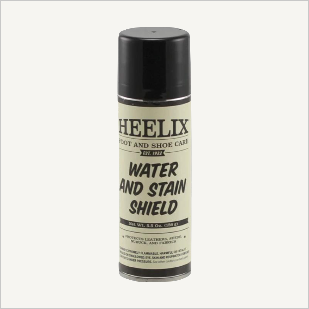 A picture of Heelix Food and Shoe Care Water and Stain Shield.