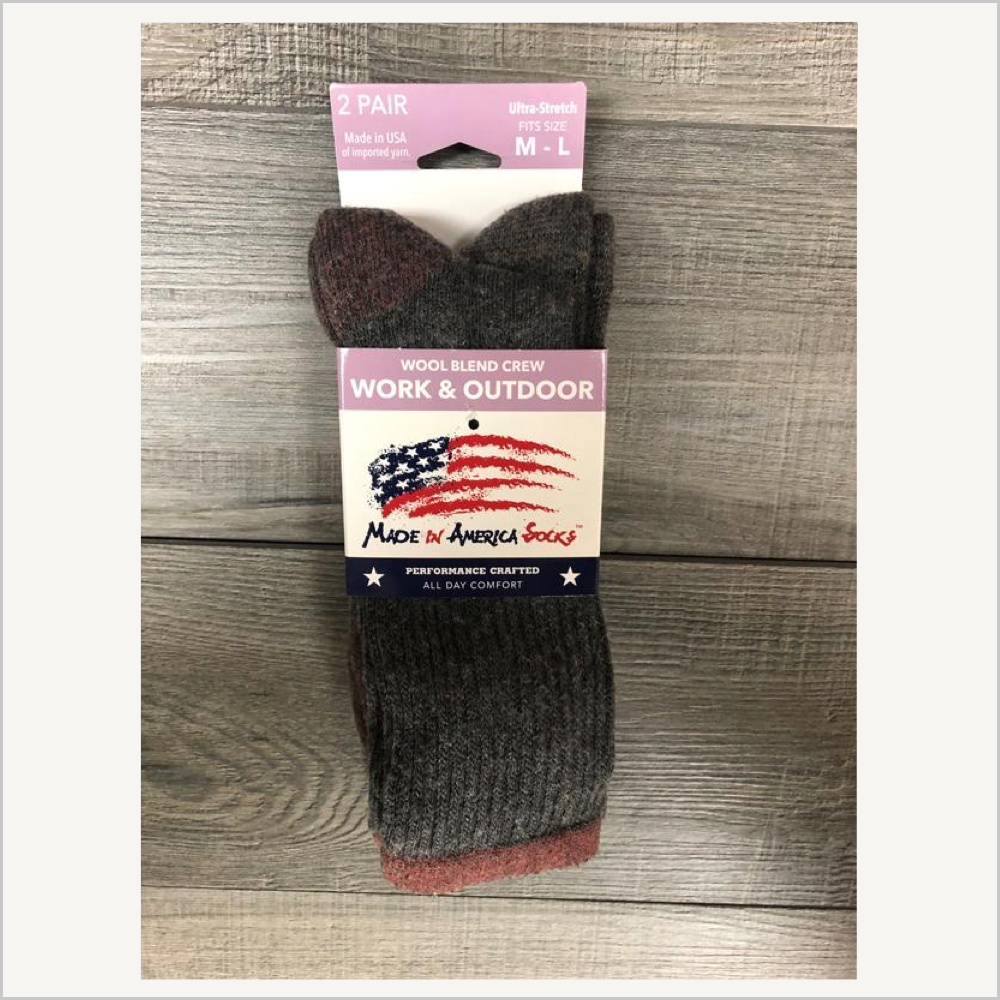 Made in America Socks™ WORK/OUTDOOR 2-Pack SOCKS