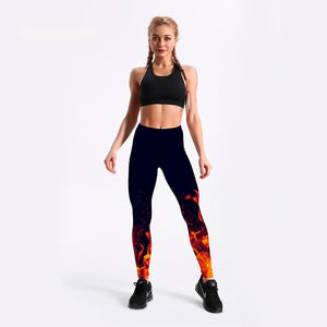 Fire flame Leggings