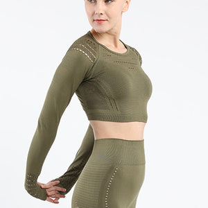 Crop Seamless Gym Shirt