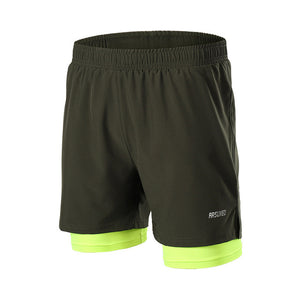 2 In 1 Men Running Reflective Shorts