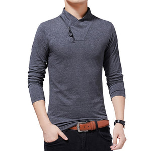 Turtle Neck Long-Sleeved T-shirt