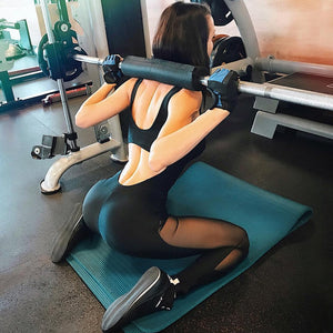 Backless Mesh Splice Yoga Sets