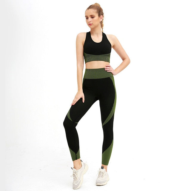 Sleeveless  Gym Crop Top Yoga Set