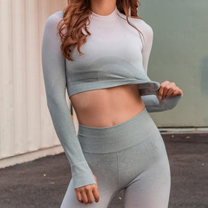 Ombre Crop Top  Shirt - LoveBubbleButt