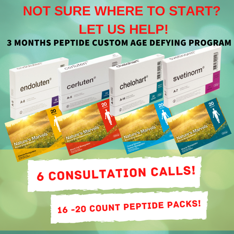 3 Month Peptide Custom Age Defying Program (16 Peptides and 4 Consultation Calls)