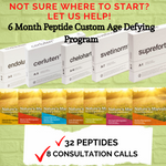 6 Month Peptide Custom Age Defying Program (32 Peptides and 8 Consultation Calls)